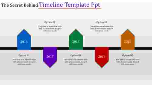 Timeline Template PPT-Vertical Arrow Model