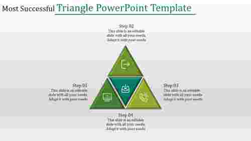 Four shaped triangle powerpoint template