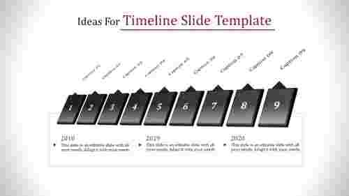 timeline slide template - 3d format
