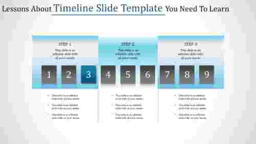 Cool timeline slide template