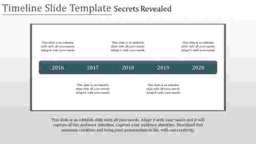 Highlighted timeline slide template