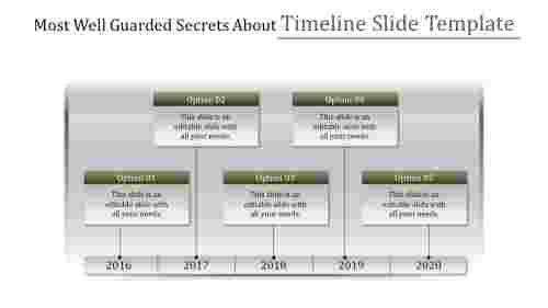 gradient timeline slide template