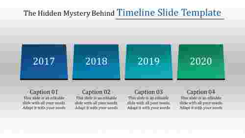 editable timeline slide template