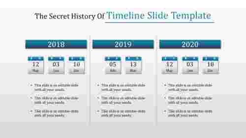 effective timeline slide template