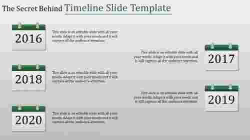 adhered timeline slide template