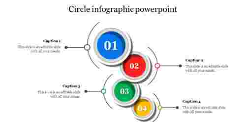 Material Design Circle Infographic Powerpoint