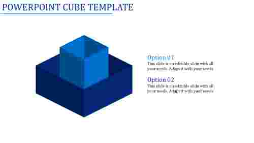 powerpoint cube template-Powerpoint Cube Template-2-Blue