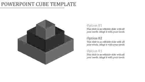 powerpoint cube template-Powerpoint Cube Template-3-Gray