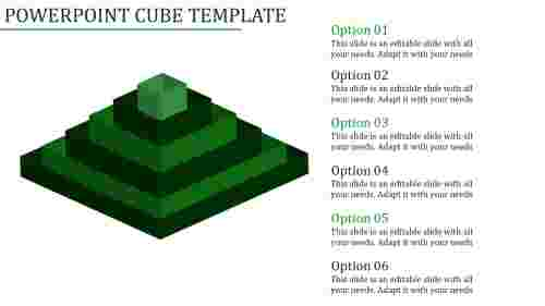 A six noded powerpoint cube template