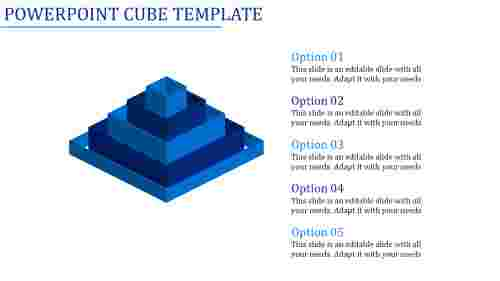 powerpoint cube template-Powerpoint Cube Template-Blue
