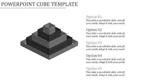 powerpoint cube template-Powerpoint Cube Template-Gray
