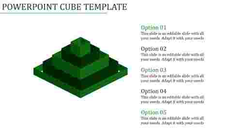 powerpoint cube template-Powerpoint Cube Template-Green