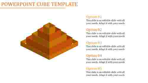 powerpoint cube template-Powerpoint Cube Template-Orange
