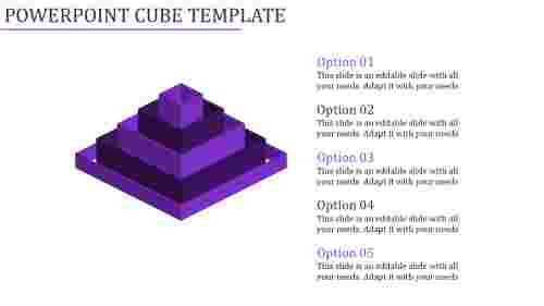 powerpoint cube template-Powerpoint Cube Template-Purple