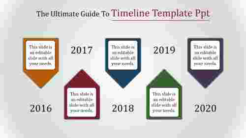 timelinetemplatePPT-conemodel