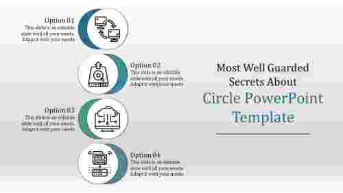 Overlapping circle PowerPoint template