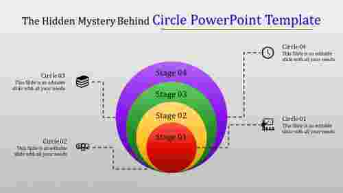 Infographic circle powerpoint template