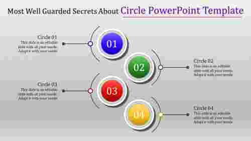 circle powerpoint template with gray background