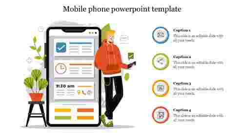 Amazing mobile phone powerpoint template