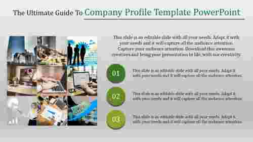 Company profile template powerpoint Concept