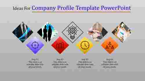 Flat Company profile template powerpoint