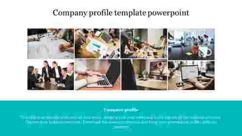 Horizontal Company profile template powerpoint