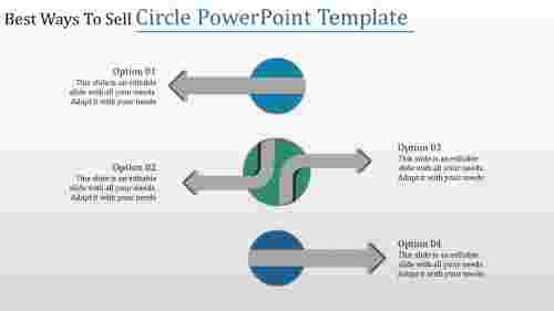 circle powerpoint template with arrows