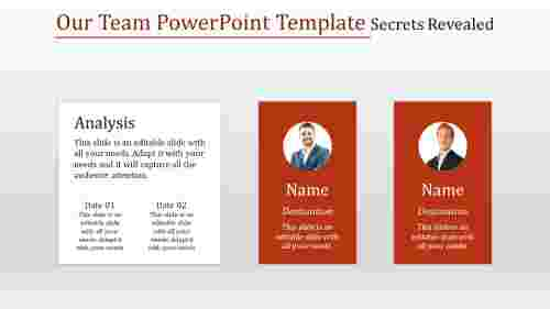 Our team powerpoint template in Rectangle Shape