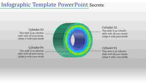 Infographic template powerpoint-Four levels