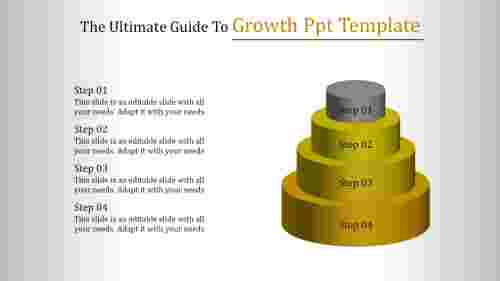 Growth ppt template - Four Layers