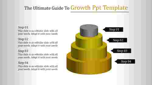 Growth ppt template - Four Steps