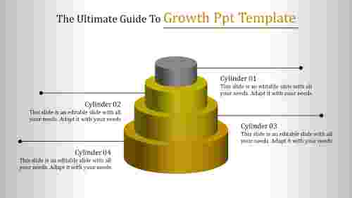 Growth ppt template - Four Stages