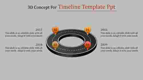 timeline template ppt-3D Concept For Timeline Template Ppt