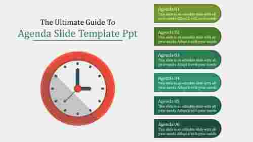 agenda slide template PPT