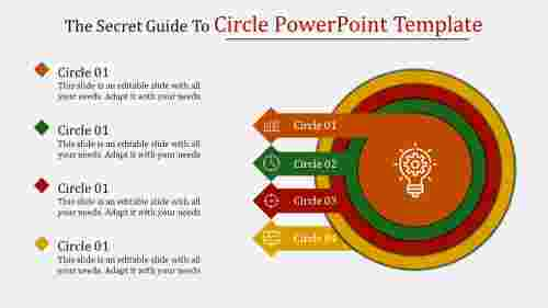 circle powerpoint template - Circular-spoke