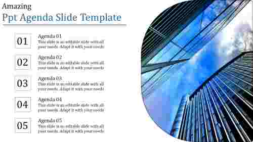 powerpoint agenda slide template - business conference
