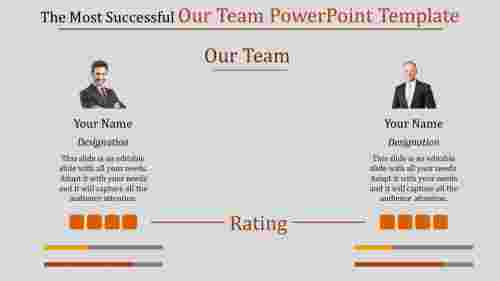 Comparison on team powerpoint template