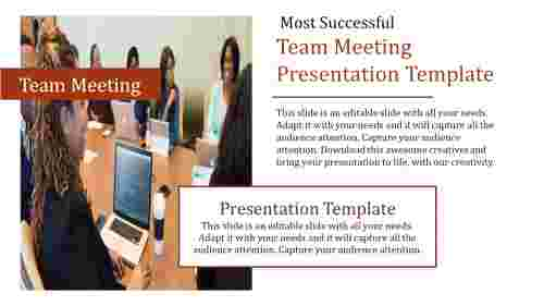 Team meeting presentation template Design