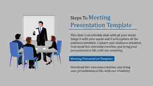 meeting presentation template-Steps To Meeting Presentation Template
