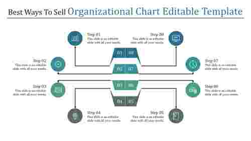 Organizational Chart Editable Template - 8 Stages