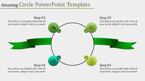Connected circle powerpoint template