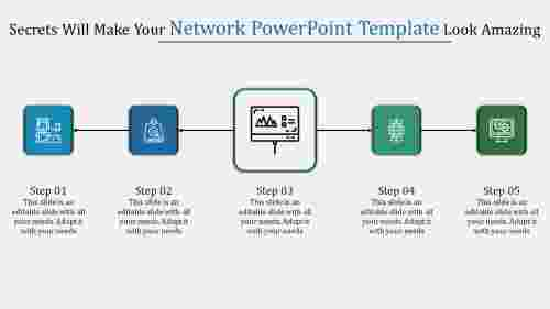 Horizontal Network Powerpoint Template