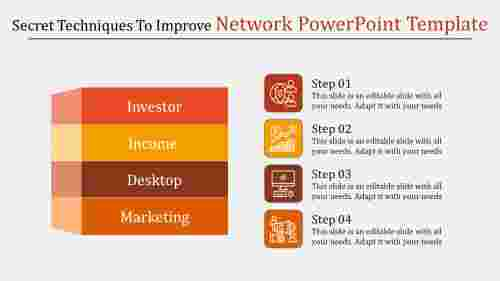 Box model Network Powerpoint Template