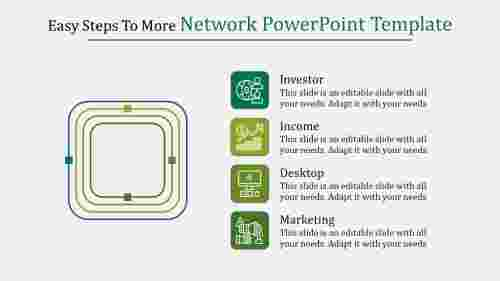 Network Powerpoint Template - Rounde corner rectangle