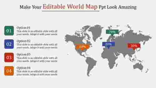 editable world map PPT