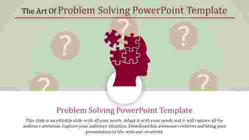 Puzzle model Problem Solving Powerpoint Template