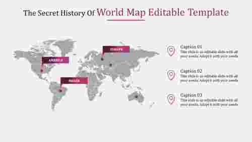 world map editable template