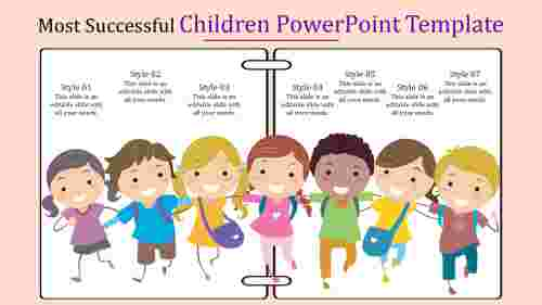 children powerpoint template-Most Successful Children Powerpoint Template