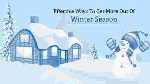 Enjoy winter season PowerPoint template