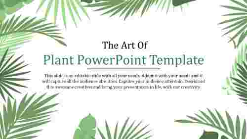 plant powerpoint template- The Art Of Plant Powerpoint Template
